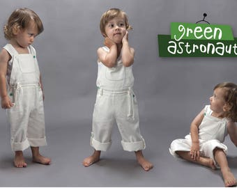 Overall - Ivory white 100% organic cotton