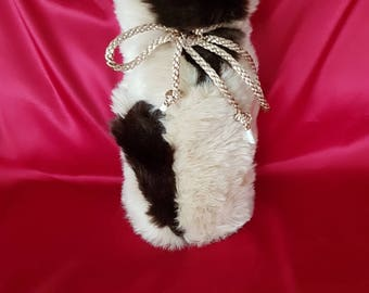 Luxurious Faux Fur String Bottle Bag