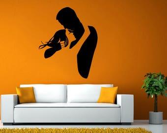 Man Woman Love Couple Hug Friendship Soulmates Dancing Wall Stickers Decals Vinyl Mural Decor Art L2135