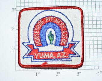 Horseshoe Pitchers Association Yuma Arizona Assoc AZ Iron-on Vintage Embroidered Clothing Patch Sport Collectible Memorabilia Throwing e28p