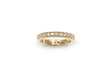 Ring gold plated wedding band OZ