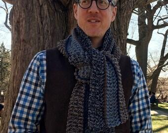 Mens Crochet Scarf PATTERN, EASY Crochet Scarf Pattern, Crochet Scarf Pattern for Men, Crochet for Men, Easy Crochet, Scarves for Men, DIY