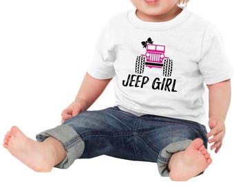 Jeep Girl Funny Newborn Baby Girl Boy Toddler Clothes Rompers Baby Shower Birthday Gift Idea Coming Home Tee Shirt Bow