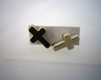Silver Cross Earrings, Crucifix, Surgical Steel Posts, Jewelry, Fashion, Accessories