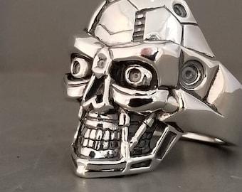 Sterling Silver Terminator Ring
