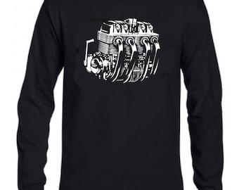Long Sleeve Men's CB750 Honda motorcycle engine shirt