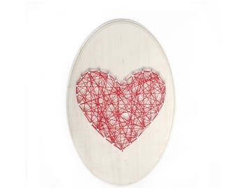 DIY Love sign, Love String art, DIY kit, Heart string art, love gift, mother gift, nursery room