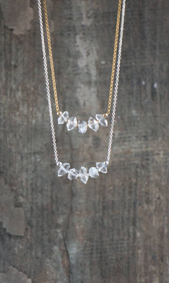 Herkimer Diamond Necklace • April Birthstone
