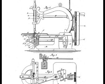 S French Sewing Machine Patent #80345 dated July 28, 1868.