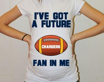 Chargers Maternity Shirt Los Angeles Chargers Baby Future Fan Shirt Baby Los Angeles Football Maternity Clothing Pregnancy Shirt Baby Shower