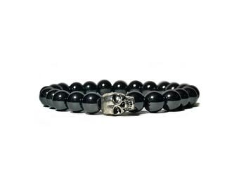 Mens Bead Bracelet Men Bead Bracelet Mens Beaded Bracelet Men Beaded Bracelet Stack Bracelet for Men Skull Bracelet Men Gemstone Bracelets