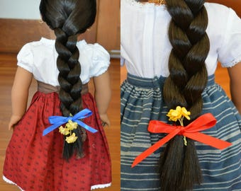 """Ribbons for 18"""" play dolls such as American Girl® Doll Josefina"""