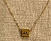Mini Stamped Mountain Necklace