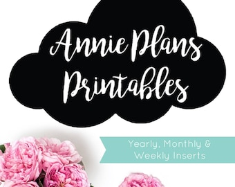 Yearly, Monthly And Weekly Inserts | AnniePlansPrintables | Authorised Printer
