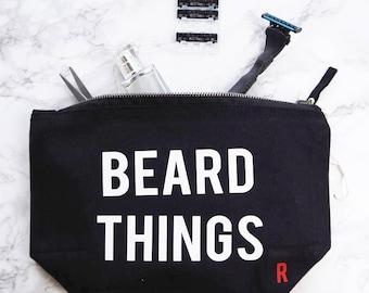 Beard Things Wash Bag - Mens Travel Bag - Fathers Day Gift - Grooming - Travel Toiletries Bag - Gift For Him - Beard Gift - Beard Lovers