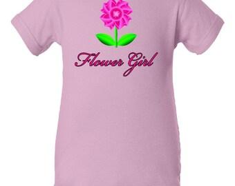 Flower Girl Baby Clothes, Flower Girl Onesie, Flower Girl Gift