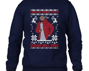I Know When That Sleigh Bell Ring Christmas Jumper, Music, Song , Charts Funny Jumper, Christmas Jumper Day EM136