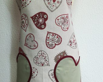 Apron hearts, Valentine's Day gift, Aprons, personalized apron