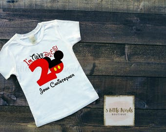 Mickey I'm Twodles Shirt | Two Shirt | 2nd Birthday Shirt | Second Birthday Outfit | Disney Birthday | Mickey Mouse Clubhouse
