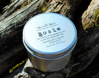 Bosie Lavender and Eucalyptus Essential Oil Natural Soy Wax Soothing Aromatherapy Candle