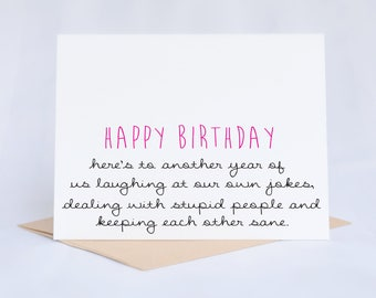 Birthday Card | Funny Birthday Card | Birthday Card Friend | Birthday Card Funny | Card For Friend | Funny Greeting Cards | Card For Her