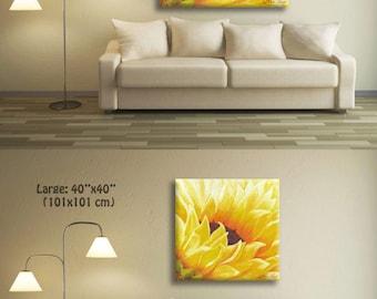 Modern Wall Art, Decorative Art, Yellow Wall Art, Yellow Wall Decor, Canvas Painting, Large Wall Decor, Wall Art Canvas, Yellow Painting