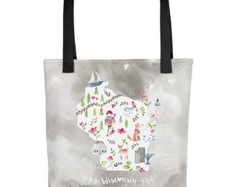 Wisconsin Tote bag   Bag   Studio Carrie    Gift