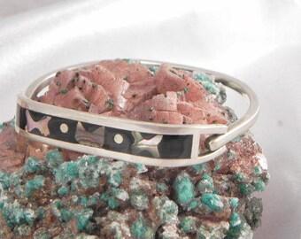Sterling Abalone and Black Onyx Bracelet