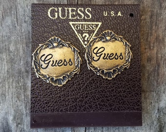 Vintage Guess Clip On Earrings Made In The USA