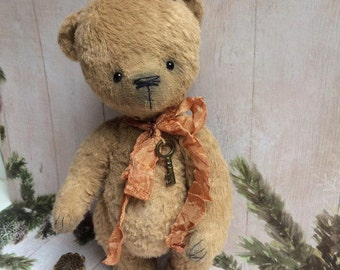 Teddy bear hand made. Teddy bear vintage style. Bear in a sweater. Мишка Тедди ручной работы. Мишка в свитере