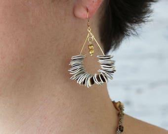 Statement Earrings for Her - Beaded Teardrop Earrings - Earrings for a Girlfriend - Dangle Earrings - Drop Earrings - Gift for her under 25