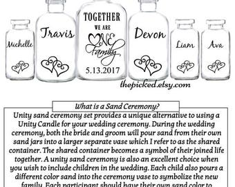 Blended Together We Are One Family Sand Ceremony Set Wedding Date Customized