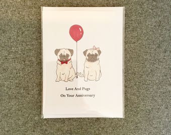 Love and Pugs on your Anniversary