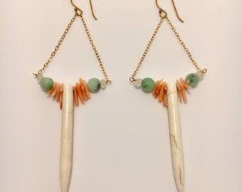 Howlite Spike Earrings