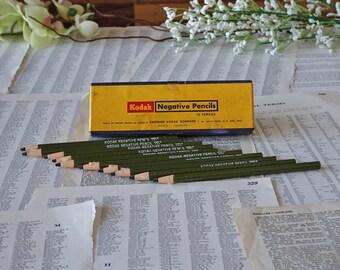 Vintage Kodak negative pencils Box of 10 pencils