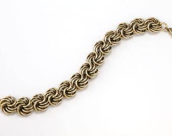 Antique Gold Pinwheel Bracelet