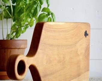 Housewarming Gift - Cadeau Pour Homme - Aperitif Plate - Michael Vermeij - Cherry Wood - Serving Platter - Bois Merisier - Two Tone