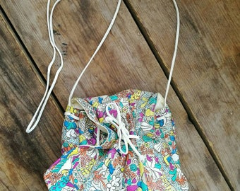 Vintage 1980s  Carlos Falchi drawstring hand bag
