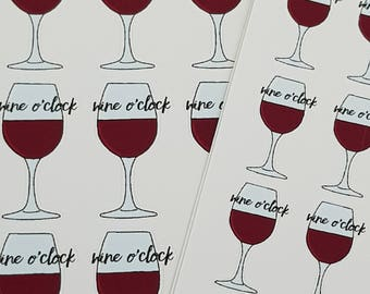 Wine O'Clock Sticker