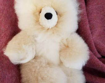 100% Alpaca Outer Heirloom Quality Bear Light Brown/Beige Soft