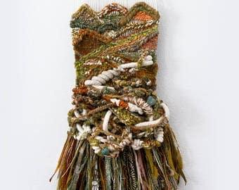 Terra Firma, Woven Wall Hanging, Tapestry, Weaving