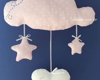 Birth snowflake Pink Cloud with customizable name