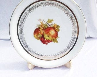 Vintage French Apple Plate Big French Serving Plate Veritable Porcelaine Fine France Big Plate 11.7 Inches