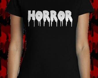 "T-shirt HORROR style ""Pastel Goth"" woman. Tumblr, Gothic, horror film..."