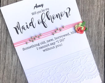 Will you be my maid of honor, Maid of honor invitation, Maid of honor proposal, Asking Maid of honor, Maid of honor invite, B29A