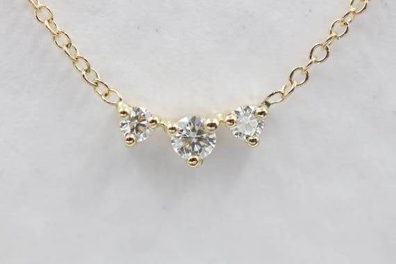 14k gold diamond necklace diamonds by the yard gold drops like this item mozeypictures Gallery