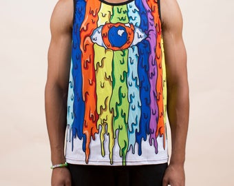 Mens Melting Eye Tank Top