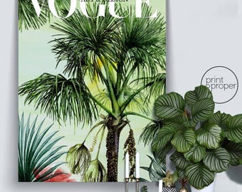 VOGUE Retro Vintage Art & Design Cover Botanical - Wall Art Print Poster Canvas
