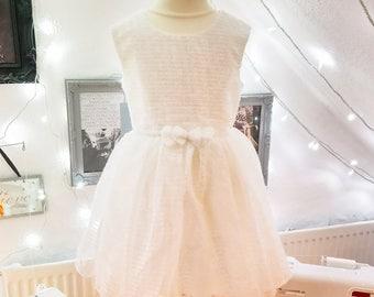 White Sparkly Tutu Dress