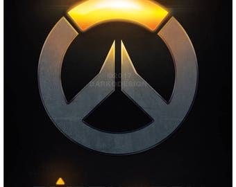 Overwatch – Light and Dark signed video game wall art poster / fine art print